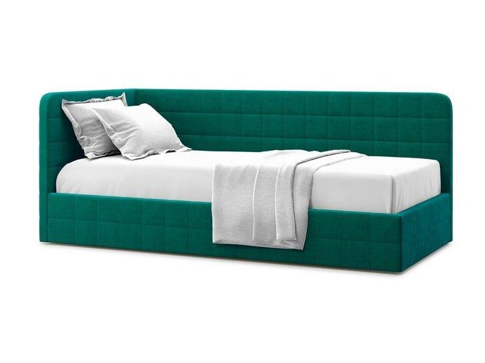 Кровать с подъемным механизмом Tichina left 90х200 зеленого цвета