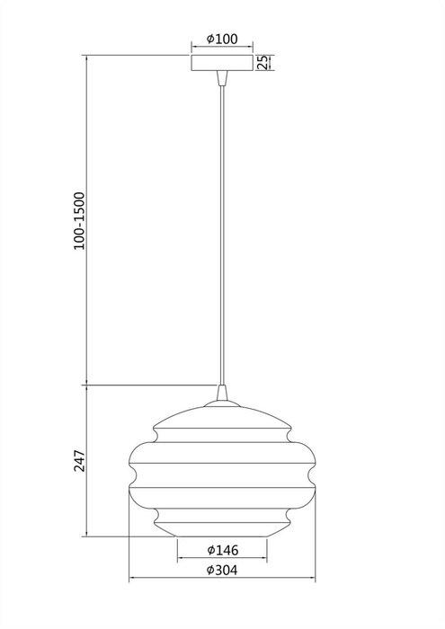 Подвесной светильник Ruche коньячного цвета