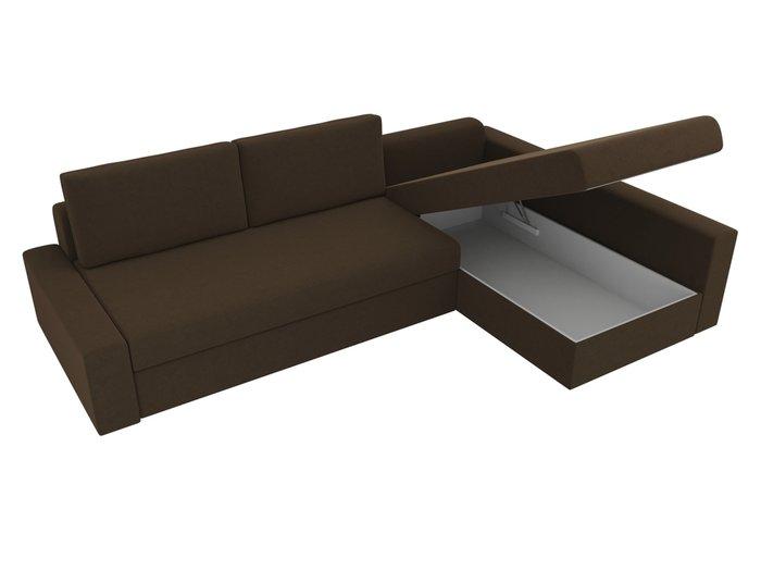 Угловой диван-кровать Версаль коричневого цвета