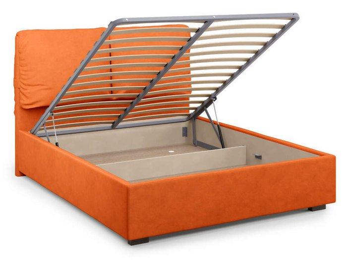 Кровать Trazimeno с подъемным механизмом 180х200 оранжевого цвета