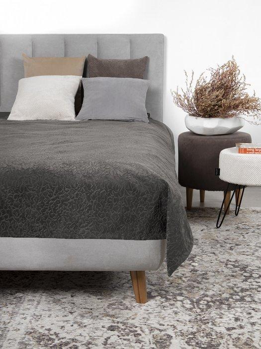 Покрывало Uno Senora Grey 140x210 серого цвета