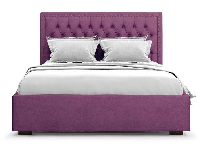 Кровать с подъемным механизмом Orto 180х200 фиолетового цвета