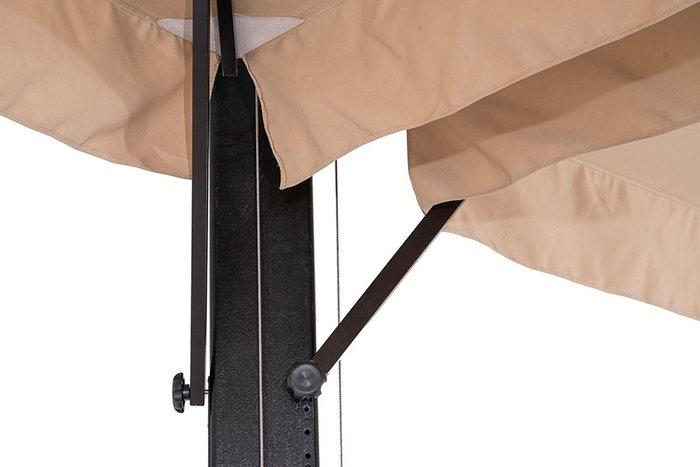 Двухкупольный зонт Рим на металлической опоре