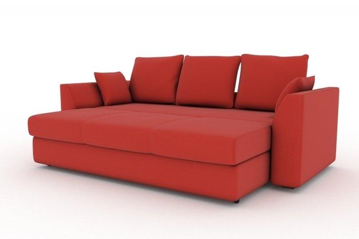 Прямой диван-кровать Belfest красного цвета