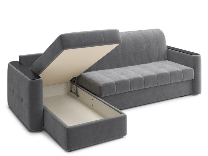 Угловой диван-кровать Ницца зеленого цвета