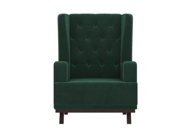 Кресло Джон Люкс зеленого цвета