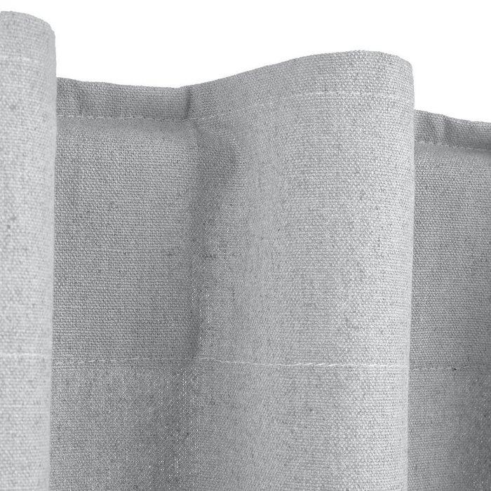 Штора Tama из льна и хлопка со скрытыми клапанами светло-серого цвета 180x145