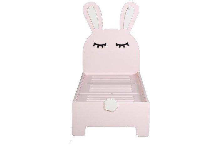 Детская кроватка Sleepy Bunny цвета нежная роза