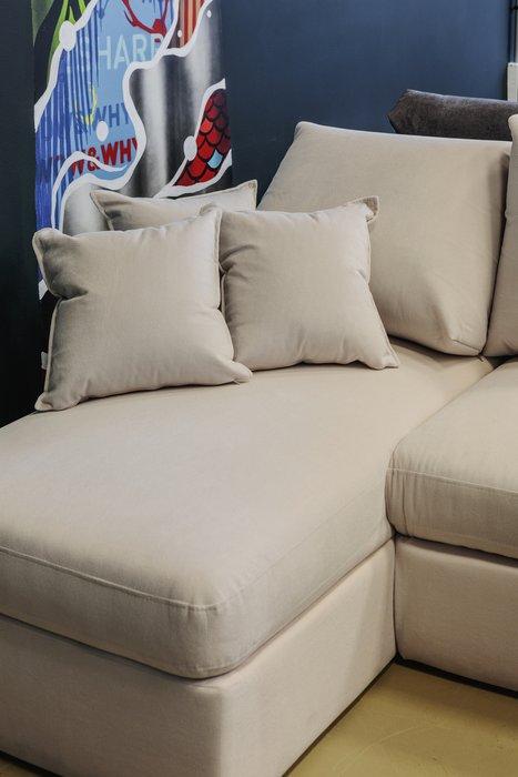 Угловой диван-кровать Винс темно-серого цвета