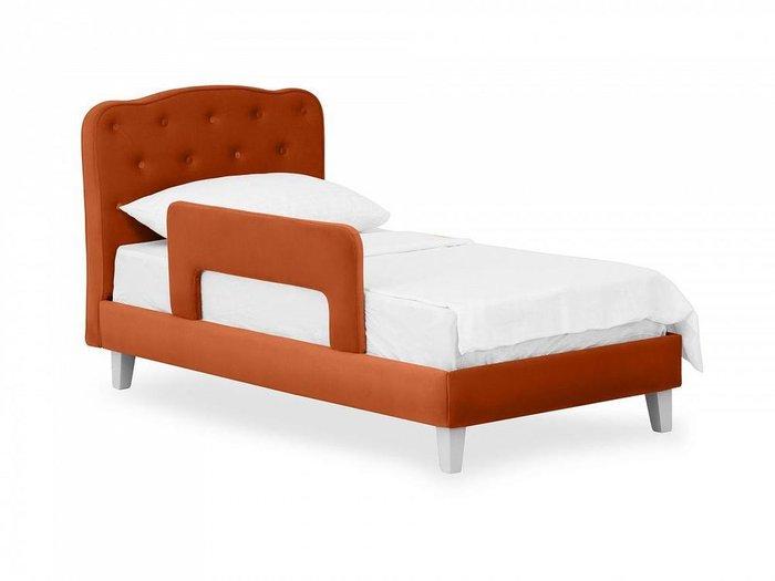 Кровать Candy 80х160 терракотового цвета