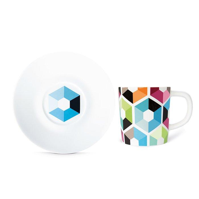 Чашка для эспрессо с блюдцем hexagon