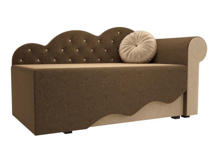 Диван-кровать Тедди бежево-коричневого цвета