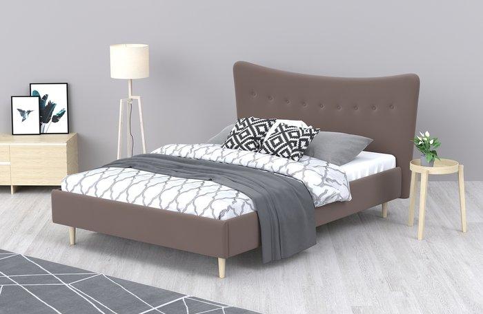 Кровать Финна 140x200 коричневого цвета