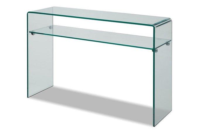 Консоль Vega из прозрачного закаленного стекла