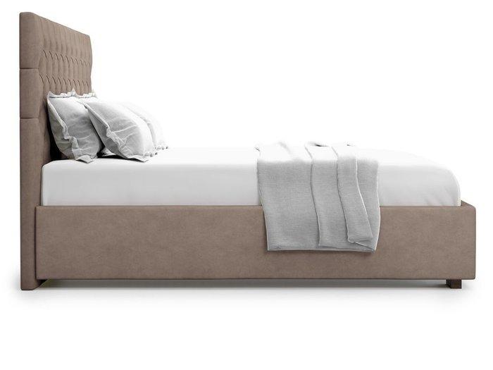 Кровать с подъемным механизмом Nemi 160х200 темно-бежевого цвета