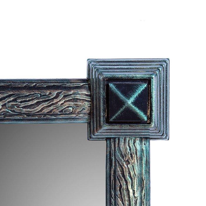 Зеркало настенное Кора I черно-зеленого цвета