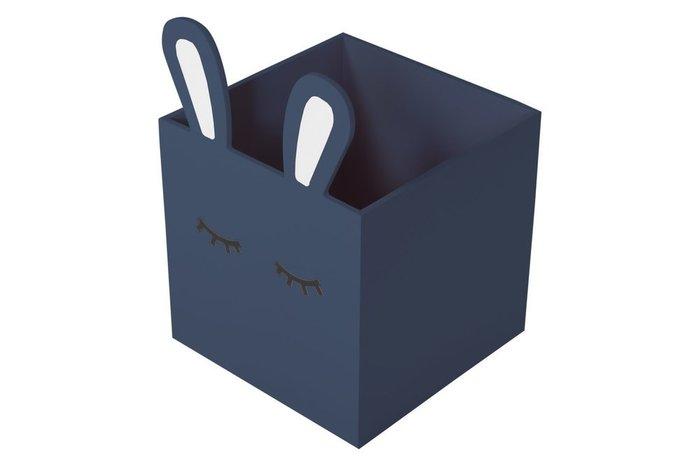 Детский комод Sleepy Bunny с тремя ящиками цвета голубиный, рояль, небесный