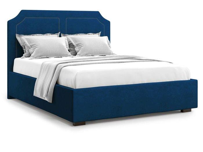 Кровать с подъемным механизмом Lago 160х200 синего цвета