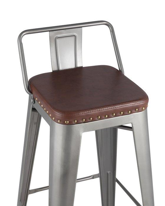 Барный стул Tolix Soft серебристого цвета