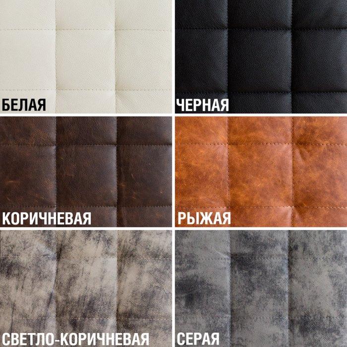 Барный стул Шоколад в натуральной серой коже