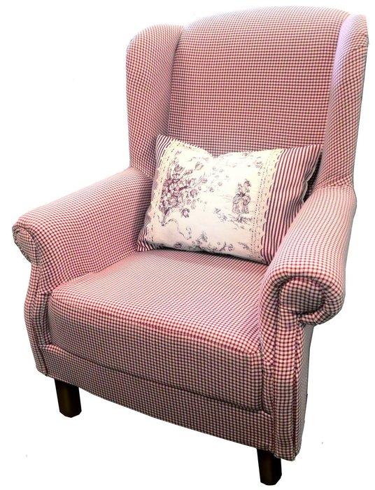 Кресло Клетка красно-белого цвета