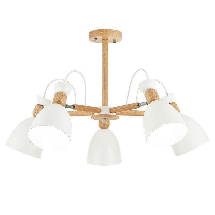 Светильник потолочный с плафонами белого цвета