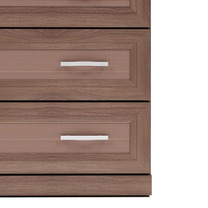 Комод Магна коричневого цвета с пятью ящиками