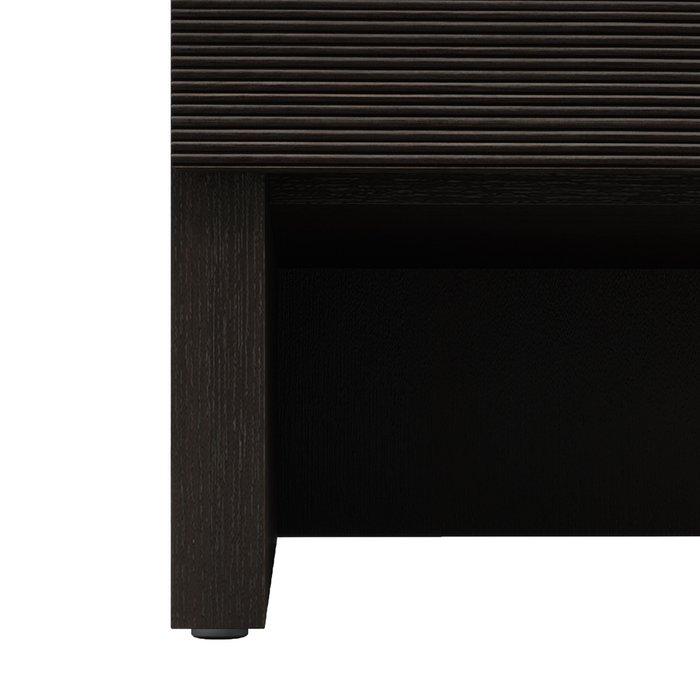Прикроватная тумба левая Элеонора темно-коричневого цвета