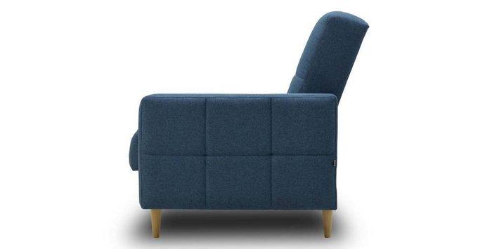 Диван-кровать Виконт синего цвета