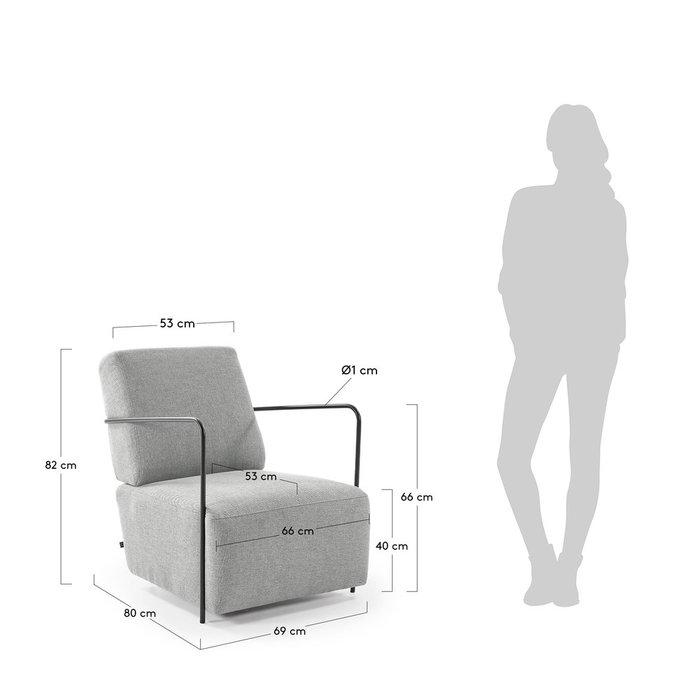Кресло Gamer светло-серого цвета