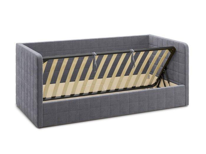 Кровать с подъемным механизмом Brenta 90х200 серого цвета
