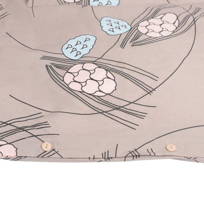 Пододеяльник из перкаля пудрового цвета с принтом Хвойное утро 200х200