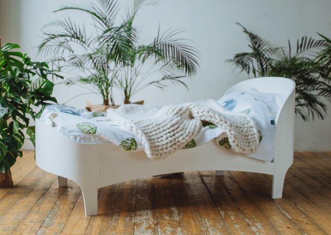 Кровать подростковая Kids белого цвета