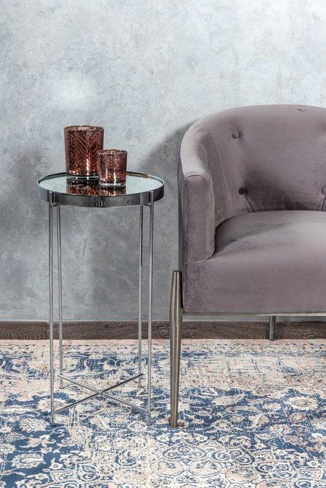 Приставной столик Gatsby S серебряного цвета