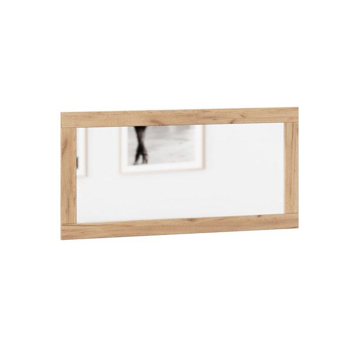 Настенное зеркало Техно 56х116 в раме коричневого цвета