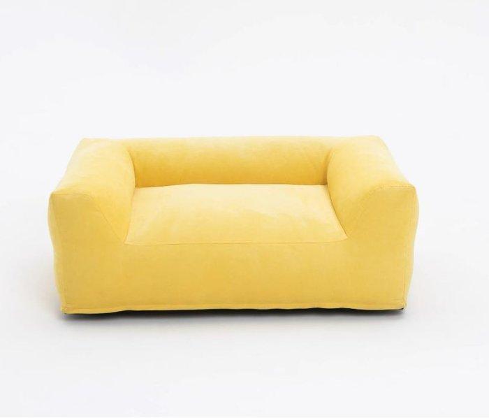 Детский бескаркасный диван Cloud желтого цвета