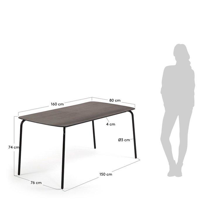 Обеденный стол Tramp с металлическим каркасом