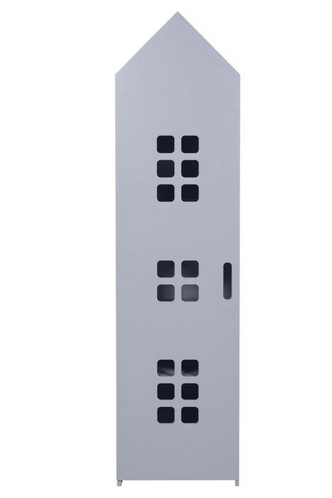 Стеллаж-домик City4 светло-серого цвета