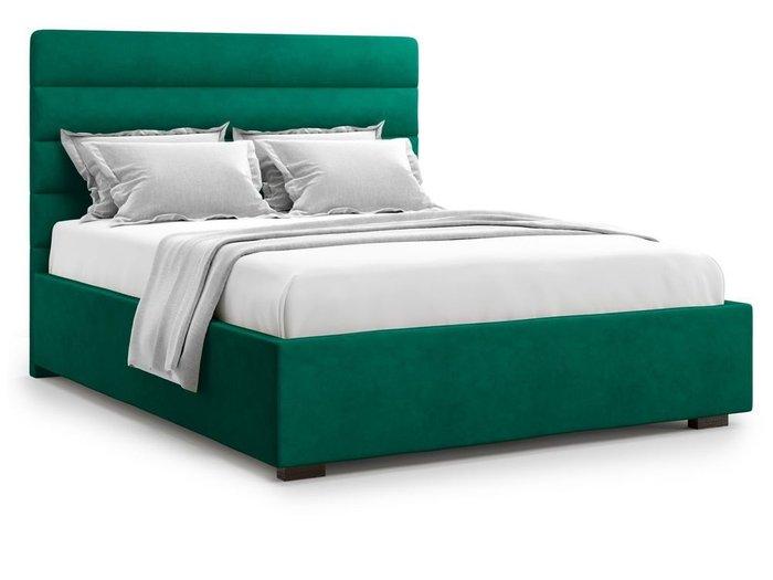 Кровать с подъемным механизмом Karezza 160х200 зеленого цвета