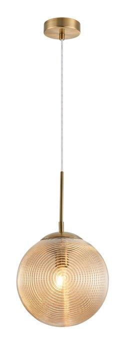 Подвесной светильник Lumina с плафоном янтарного цвета