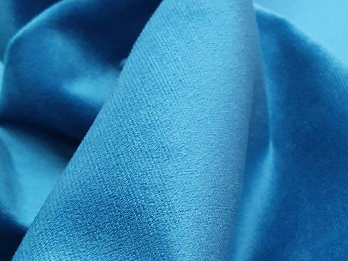 Угловой диван-кровать Даллас голубого цвета