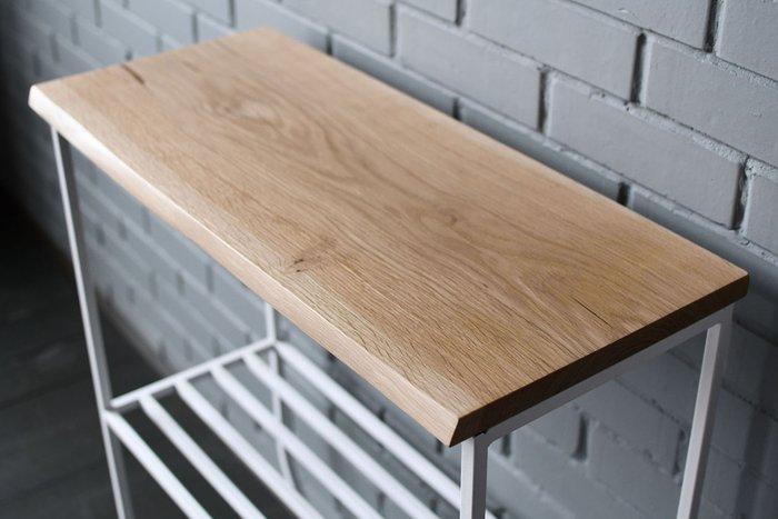 Консольный стол Hall Oak с белым подстольем