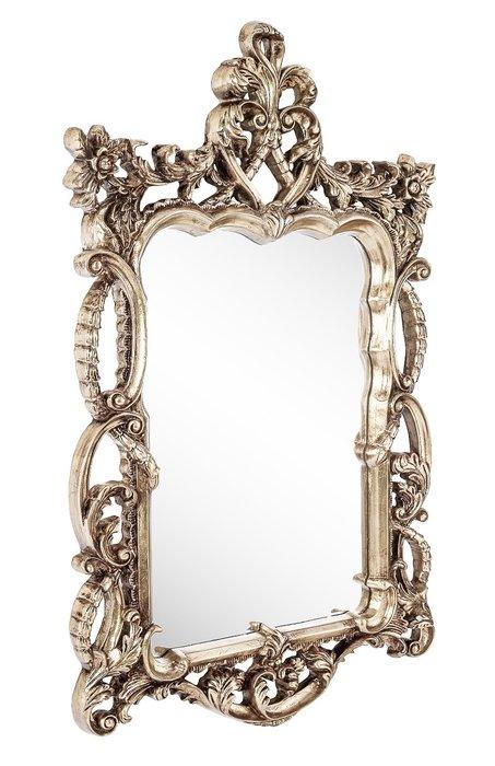 Настенное Зеркало в резной раме Floret Silver