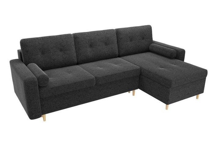 Угловой диван-кровать Белфаст черного цвета