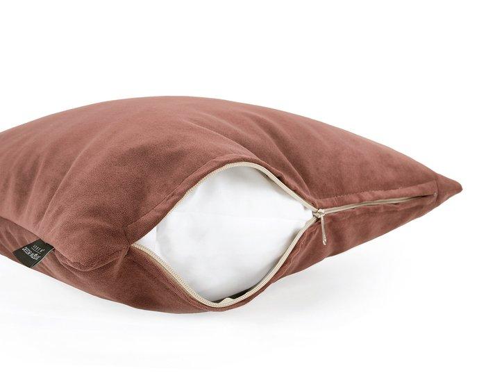 Декоративная подушка Ultra terra терракотового цвета