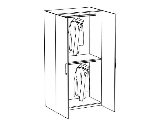 Шкаф двухдверный City с двумя отделениями