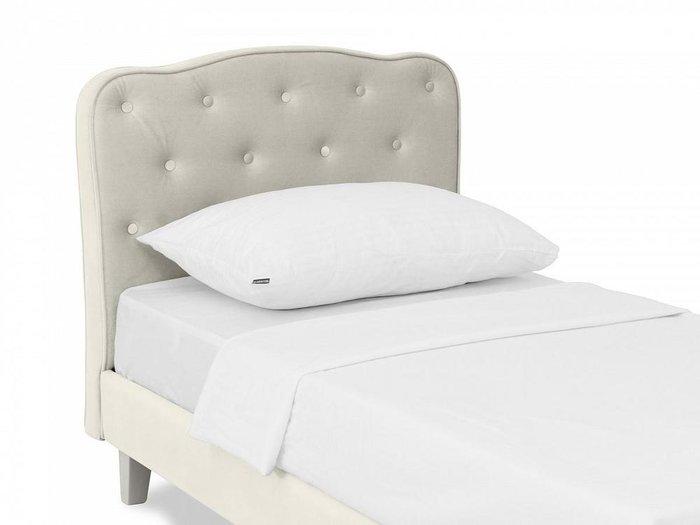 Кровать Candy 80х160 светло-серого цвета