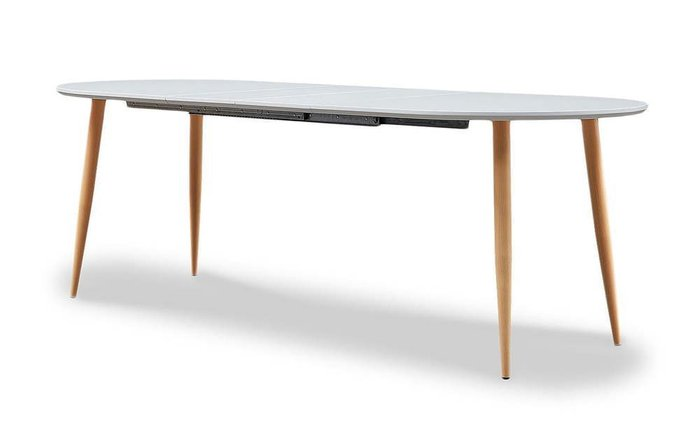 Стол раскладной Morris белого цвета