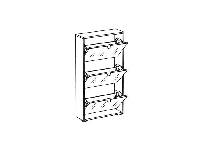 Шкаф для обуви Reggy 3 с белым фасадом