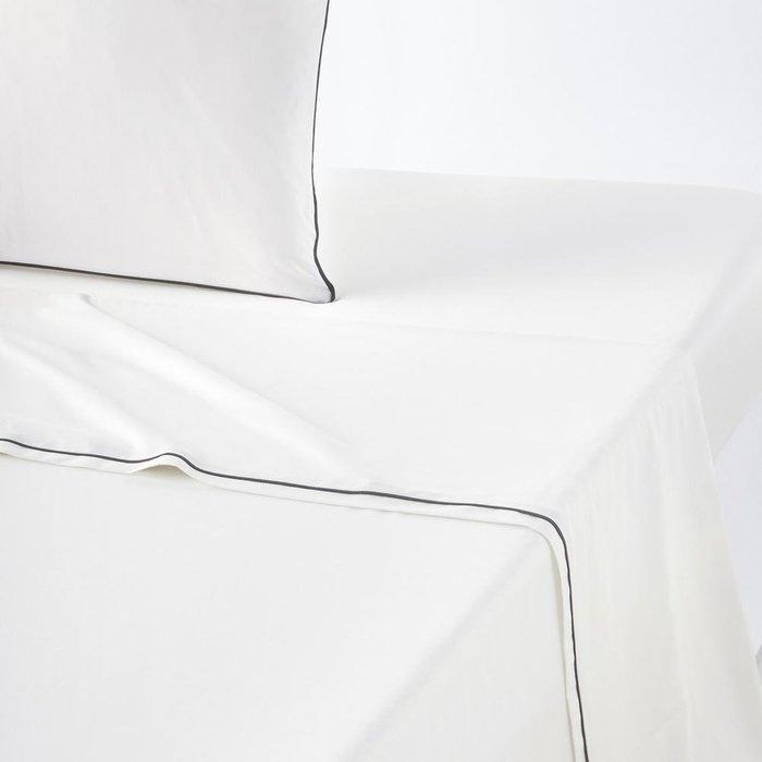 Простынь Duo из перкаля белого цвета 240x290